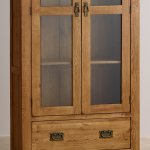 French Farmhouse Rustic Solid Oak Display Cabinet - Thumbnail 4