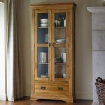French Farmhouse Rustic Solid Oak Display Cabinet - Thumbnail 3