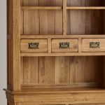 French Farmhouse Rustic Solid Oak Small Dresser - Thumbnail 4