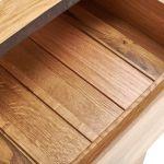 Boston Natural Solid Oak and Metal Small Dresser - Thumbnail 4