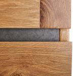 Boston Natural Solid Oak and Metal Small Dresser - Thumbnail 3