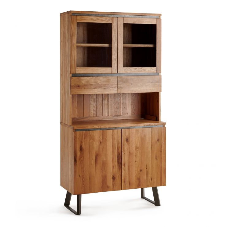 Boston Natural Solid Oak and Metal Small Dresser