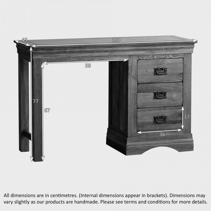 French Farmhouse Rustic Solid Oak Dressing Table