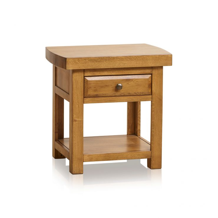 Hercules Rustic Solid Oak Lamp Table - Image 7