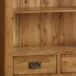 French Farmhouse Rustic Solid Oak Tall Bookcase - Thumbnail 5