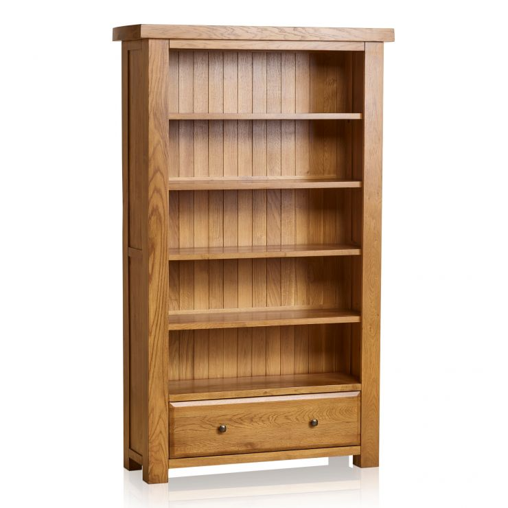 Hercules Rustic Solid Oak Tall Bookcase