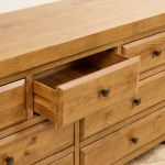 Hercules Rustic Solid Oak 3+4 Drawer Chest - Thumbnail 6