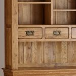 French Farmhouse Rustic Solid Oak Large Dresser - Thumbnail 3