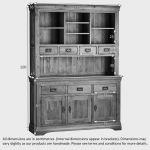 French Farmhouse Rustic Solid Oak Large Dresser - Thumbnail 5