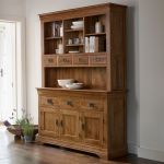 French Farmhouse Rustic Solid Oak Large Dresser - Thumbnail 2