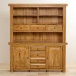 Hercules Rustic Solid Oak Large Dresser - Thumbnail 3