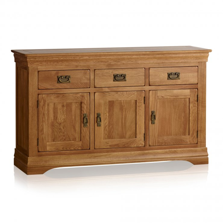 French Farmhouse Rustic Solid Oak Large Sideboard - Image 5