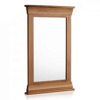 French Farmhouse Rustic Solid Oak 900mm x 600mm Wall Mirror