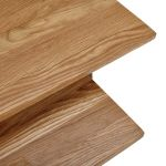 Boston Natural Solid Oak and Metal Nest of 2 Tables - Thumbnail 4