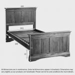French Farmhouse Rustic Solid Oak 3ft Single Bed - Thumbnail 3