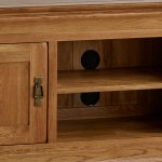 French Farmhouse Rustic Solid Oak Small TV Cabinet - Thumbnail 4