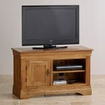 French Farmhouse Rustic Solid Oak Small TV Cabinet - Thumbnail 3