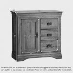 French Farmhouse Rustic Solid Oak Storage Cabinet - Thumbnail 4