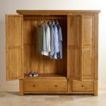 Hercules Rustic Solid Oak Triple Wardrobe - Thumbnail 5