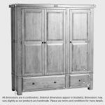 Hercules Rustic Solid Oak Triple Wardrobe - Thumbnail 6