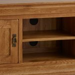 French Farmhouse Rustic Solid Oak Large TV Cabinet - Thumbnail 4
