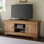 French Farmhouse Rustic Solid Oak Large TV Cabinet - Thumbnail 2