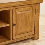 Hercules Rustic Solid Oak Large TV Cabinet - Thumbnail 6