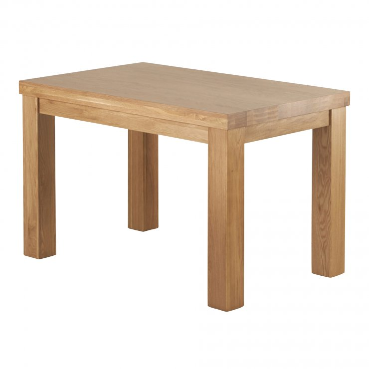 "Fresco 4ft x 2ft 6"" Natural Solid Oak Dining Table - Image 2"