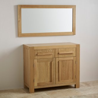 Fresco Natural Solid Oak 1200mm x 600mm Wall Mirror