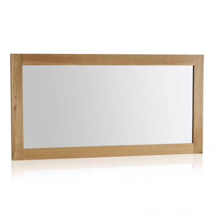 Fresco Natural Solid Oak 1200mm x 600mm Wall Mirror - Image 4