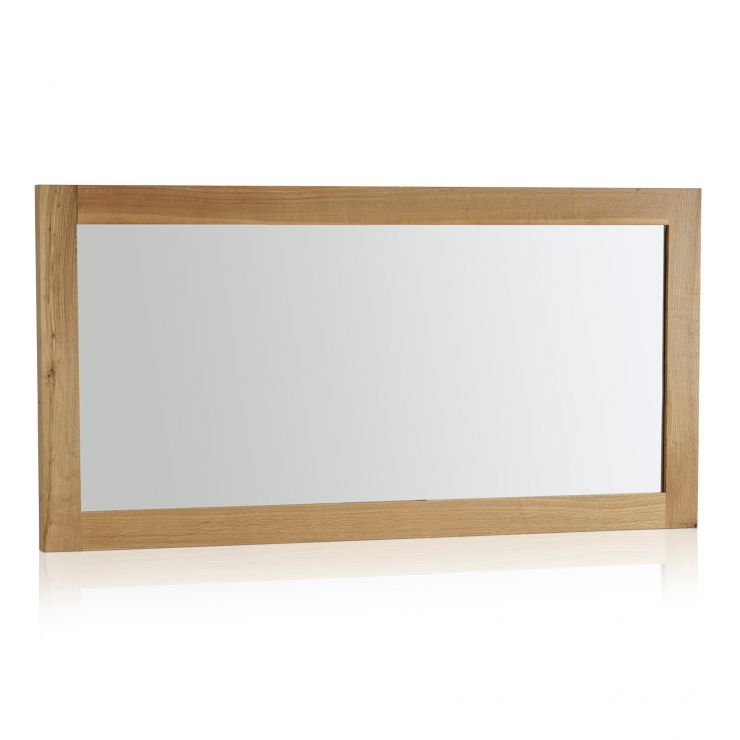 Fresco Natural Solid Oak 1200mm x 600mm Wall Mirror - Image 4