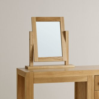 Fresco Natural Solid Oak Dressing Table Mirror