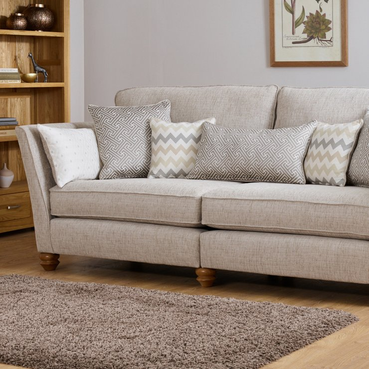 Gainsborough 3 Seater Sofa in Brown with Beige Scatters