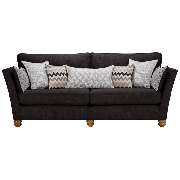 Gainsborough 4 Seater Sofa in Black with Silver Scatters - Image 2