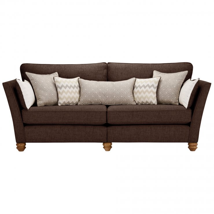 Gainsborough 4 Seater Sofa in Brown with Beige Scatters - Image 2