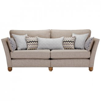 Gainsborough 4 Seater Sofa in Silver with Silver Scatters