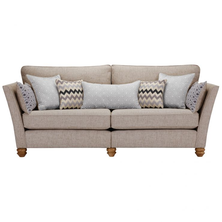 Gainsborough 4 Seater Sofa in Silver with Silver Scatters - Image 2