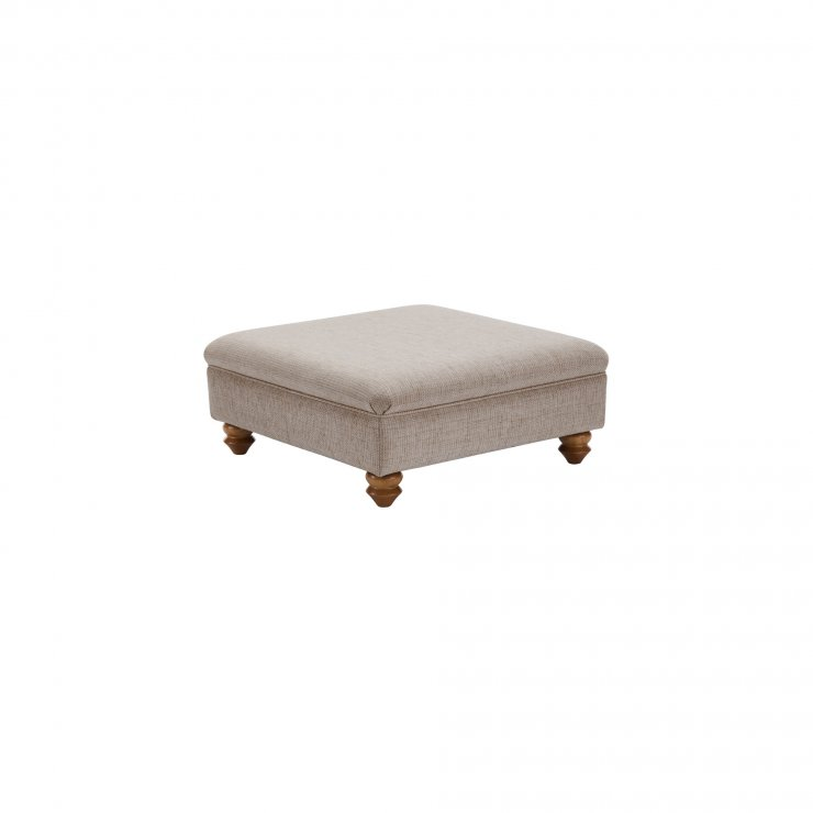 Gainsborough Footstool in Silver - Image 1