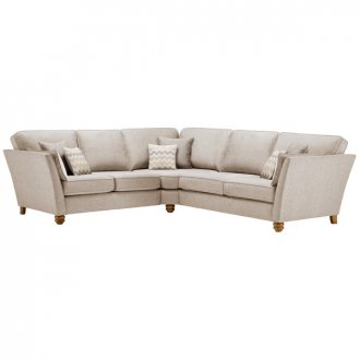 Gainsborough Large Corner Sofa in Beige with Beige Scatters