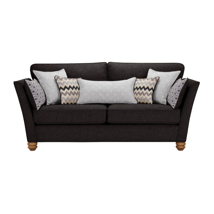 Gainsborough 3 Seater Sofa in Black with Silver Scatters