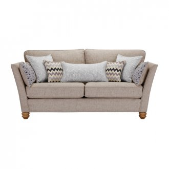Gainsborough 3 Seater Sofa in Silver with Silver Scatters