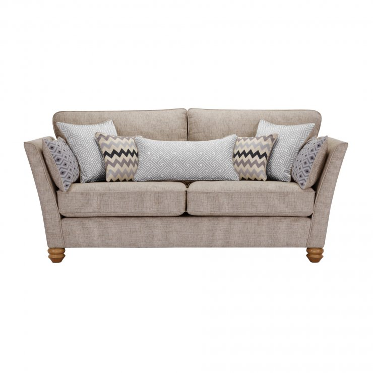 Gainsborough 3 Seater Sofa in Silver with Silver Scatters - Image 2