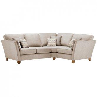 Gainsborough Left Hand Corner Sofa in Beige with Beige Scatters