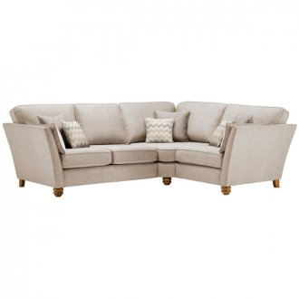 Gainsborough Left Hand Corner Sofa in Beige with Beige Scatters