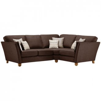 Gainsborough Left Hand Corner Sofa in Brown with Beige Scatters