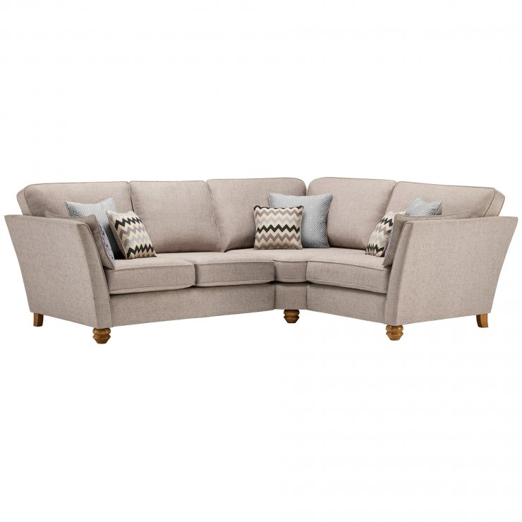 Gainsborough Left Hand Corner Sofa in Silver with Silver Scatters
