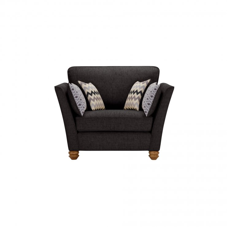 Gainsborough Loveseat in Black with Silver Scatters - Image 1