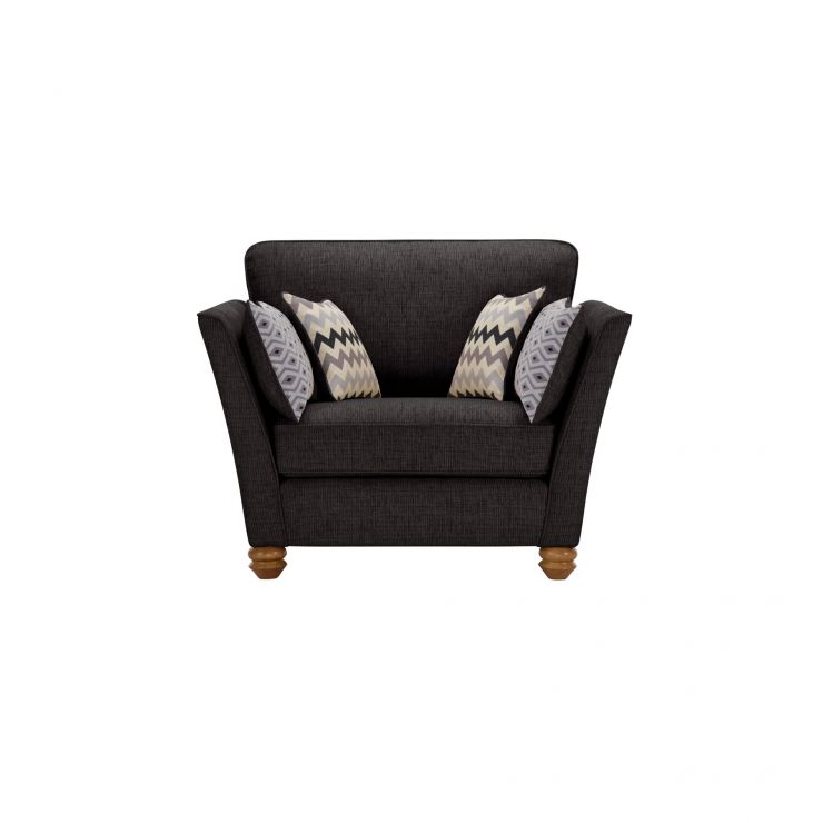 Gainsborough Loveseat in Black with Silver Scatters