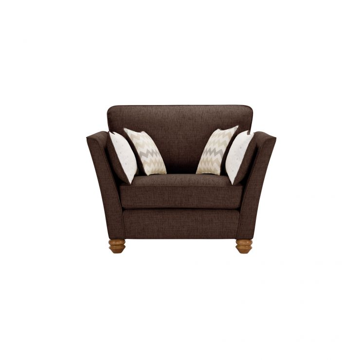 Gainsborough Loveseat in Brown with Beige Scatters
