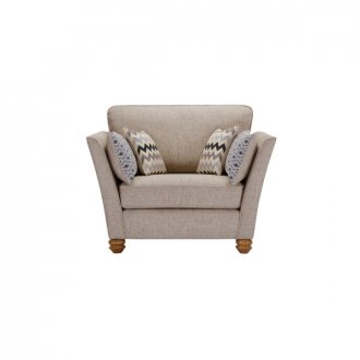 Gainsborough Loveseat in Silver with Silver Scatters